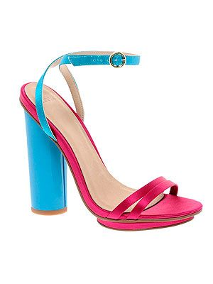 """<p>Add a pop of colour to your outfit with these pretty colour block sandals from ASOS. Extra points for the chunky heels which will save us from any embarrassing tumbles. A pastel pedi is a must. </p> <p>Sandals, £45, <a href=""""http://www.asos.com/ASOS/ASOS-HIGHGATE-Heeled-Sandals/Prod/pgeproduct.aspx?iid=2644167&cid=6992&sh=0&pge=0&pgesize=200&sort=-1&clr=Multi"""" target=""""_blank"""">Asos</a></p>"""