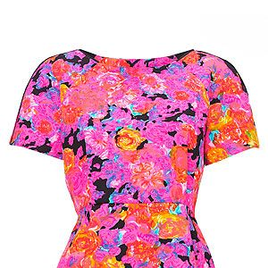 """<p>If you want to stand out from the crowd this floral pink and orange top from Whistles is a sure bet, and the peplum shape is flattering to most shapes. What more could you want?</p><p>Top, £95, <a href=""""http://www.whistles.co.uk/fcp/categorylist/new/in?resetFilters=true#product=903000059974"""" target=""""_blank"""">Whistles</a></p>"""
