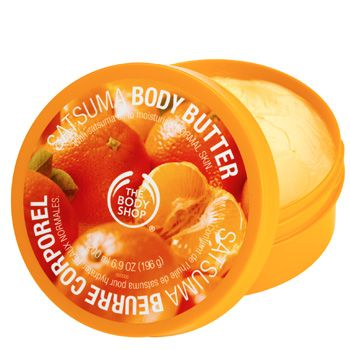 """Take a tip from the A-list and smooth a body moisturiser on your arms (and legs if they are on show) before leaving the plane. The Body Shop's body butters have a gorgeously thick consistency and the satsuma or strawberry flavours mean you'll smell good enough to eat! The cocoa butter formulation ensures your skin will stay moisturised for up to 24 hours as well so they're great for post-beach pre-party pampering too. <br /><br />The Body Shop body butter (50 ml) £4.85 <a target=""""_blank"""" href=""""http://www.thebodyshop.co.uk/_en/_gb/catalog/product.aspx?ParentCatCode=C_BathBody&CatCode=C_BathBody_BodyButterBodyLotion&prdcode=26580m"""">www.thebodyshop.co.uk</a><br />"""