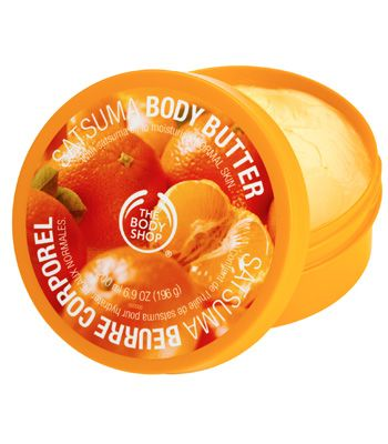 "Take a tip from the A-list and smooth a body moisturiser on your arms (and legs if they are on show) before leaving the plane. The Body Shop's body butters have a gorgeously thick consistency and the satsuma or strawberry flavours mean you'll smell good enough to eat! The cocoa butter formulation ensures your skin will stay moisturised for up to 24 hours as well so they're great for post-beach pre-party pampering too. <br /><br />The Body Shop body butter (50 ml) £4.85 <a target=""_blank"" href=""http://www.thebodyshop.co.uk/_en/_gb/catalog/product.aspx?ParentCatCode=C_BathBody&CatCode=C_BathBody_BodyButterBodyLotion&prdcode=26580m"">www.thebodyshop.co.uk</a><br />"