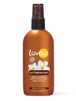 "<p>If you're chemical-cautious, reach for this organic self-tan spray which is as good for your skin as it looks on it. The 100% natural formula is lovingly crafted with sweet-smelling Tahitian Monoi oil to prevent dryness and keep your glow going for longer.<br /> <br />Lovea Organic Self-tanning Spray, around £11.49, <a href=""http://www.feelunique.com/p/Lovea-Organic-Self-Tanning-Spray-125ml"" target=""_blank"">feelunique.com</a>, <a href=""http://www.mypure.co.uk/lovea-organic-sunscreen-b105"" target=""_blank"">mypure.co.uk</a> and Wholefoods stores</p>"