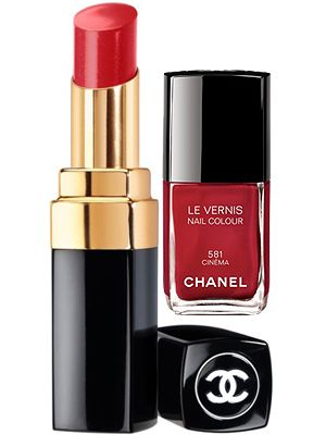 "<p>Chic and classic – you simply can't go wrong with red on both your nails and lips. These luxe Chanel numbers are investment buys that will pay for themselves over months to come.<br /><br />Chanel Le Vernis in Cinéma, £18, <a href=""http://www.selfridges.com/en/Beauty/Brand-rooms/Luxury/CHANEL/Makeup/Nails/LE-VERNIS-Nail-Colour_437-73004626-LEVERNIS/"" target=""_blank"">Selfridges</a> and Rouge Coco Shine lipstick in Dialogue, £24, <a href=""http://www.debenhams.com/webapp/wcs/stores/servlet/prod_10701_10001_123156909299_-1"" target=""_blank"">Debenhams</a>  </p>"