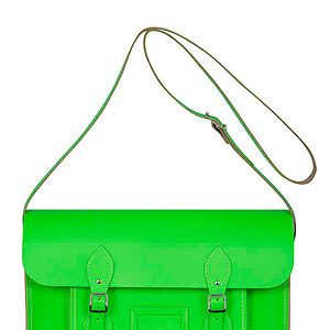 <p>Be practical and stylish with this fluoro satchel from The Cambridge Satchel Company. Plus you can get it embossed with your initials for free too! Cool, or what?</p>
