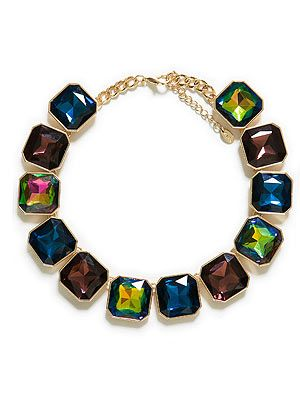 """<p>Like a moth to a flame we were drawn to this gem of a statement necklace by Zara. Wear it to jazz up a simple white tee or go bold with a print dress.</p> <p>Necklace, £19.99, <a href=""""http://www.zara.com/webapp/wcs/stores/servlet/product/uk/en/zara-neu-S2013/363008/1295480/%20http://www.zara.com/webapp/wcs/stores/servlet/product/uk/en/zara-neu-S2013/363008/1295480/"""" target=""""_blank"""">Zara</a></p>"""