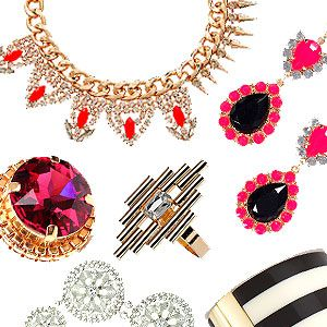 <p>Whether it's a sparkly necklace, chandelier earrings or a chunky bracelet, there's nothing like a bit of bling to add the wow factor to your outfit. From turquoise gem necklaces to neon earrings and perspex cuffs to glittery rings, shop Cosmo's edit of the best statement jewellery.</p>
