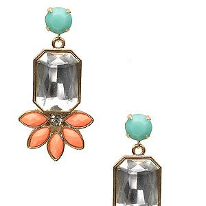 """<p>We're not ready to hang up the pastel trend just yet, so we'll be blinging up our ears with these art deco coral and baby blue earrings from Accessorize.</p><p>Earrings, £10, <a href=""""http://uk.accessorize.com/view/product/uk_catalog/acc_2,acc_2.4/3812390800"""" target=""""_blank"""">Accessorize</a></p>"""