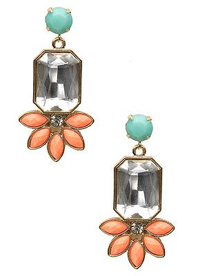 "<p>We're not ready to hang up the pastel trend just yet, so we'll be blinging up our ears with these art deco coral and baby blue earrings from Accessorize.</p> <p>Earrings, £10, <a href=""http://uk.accessorize.com/view/product/uk_catalog/acc_2,acc_2.4/3812390800"" target=""_blank"">Accessorize</a></p>"