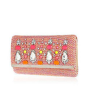 """<p>This cute little embellished clutch bag from River Island is the perfect addition to any summer outfit, don't you think? You can't go far wrong with gems and a hint of neon and coral. </p><p>Clutch, £30, <a href=""""http://www.riverisland.com/women/bags--purses/clutch-bags/Pink-tweed-embellished-clutch-bag--636115"""" target=""""_blank"""">River Island</a></p>"""