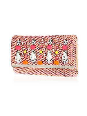 "<p>This cute little embellished clutch bag from River Island is the perfect addition to any summer outfit, don't you think? You can't go far wrong with gems and a hint of neon and coral. </p> <p>Clutch, £30, <a href=""http://www.riverisland.com/women/bags--purses/clutch-bags/Pink-tweed-embellished-clutch-bag--636115"" target=""_blank"">River Island</a></p>"