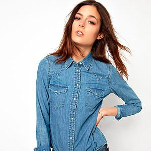 """<p>No one can argue with the power of a classic Levi's denim shirt, whether it's worn with jeans for the double-denim look or an Aztec print skirt.</p><p>Levi's shirt, £60, <a href=""""http://www.asos.com/Levis/Levis-Denim-Shirt/Prod/pgeproduct.aspx?iid=3081627&cid=2623&sh=0&pge=0&pgesize=204&sort=-1&clr=Stonebleach"""" target=""""_blank"""">ASOS</a></p>"""