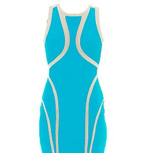 """<p>Make sure you get noticed on the dance floor with this Peter Pilotto-esque turquoise dress by Forever Unique. Its geometric design ensures a flattering shape to boyish and curvy frames alike. Wear with white heels and a neon clutch. </p><p>Dress, £80, <a href=""""http://www.foreverunique.co.uk/all-clothing/rome-bright-blue-dress/prod_3098.html"""" target=""""_blank"""">Forever Unique</a></p>"""