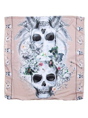 "<p>Don't limit your accessorizing to stackable bangles and chunky necklaces. Instead, make a statement with a cool patterned scarf. This H&M foulard's skull print toughens up a pastel background and girlie florals. We heart. </p> <p>Scarf, £6.99, <a href=""http://www.hm.com/gb/product/14227?article=14227-C"" target=""_blank"">H&M</a></p> <p> </p>"
