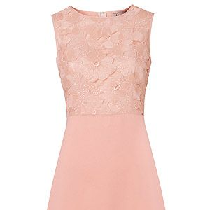 """<p>Make a nod to the 60s mod in a sleeveless, A-line dress paired with pointy sling-backs and a chunky necklace. Can't go wrong style.</p><p>Dress, £80, <a href=""""http://www.oliverbonas.com/fashion/dresses/dress_aline_cutwork_nude.htm"""" target=""""_blank"""">Oliver Bonas</a></p>"""