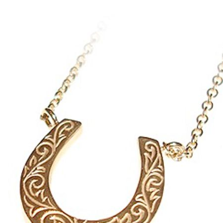 "Bring yourself some luck with this gorgeous gold horseshoe charm necklace- prefect for a pressie... or yourself! <br /><br />£155, <a target=""_blank"" href=""http://www.lauraleejewellery.com/boutique/index.php?_a=viewProd&productId=57"">www.lauraleejewellery.com</a><br />"