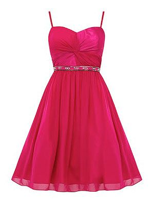 <p>Make like our new cover star Rachel Bilson and channel Barbie in a hot pink skater dress with embellishment at the waist. Sweetheart necklines are always a flattering look. Best worn with strappy heels.</p>