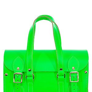 """<p>Make sure the weather's not the only thing that's bright with Spoiled Brat's neon green tote, best worn with denim cut-offs and a white tee.</p><p>Neon green bag, £120, <a href=""""http://www.spoiledbrat.co.uk/womenswear-c1/bags-purses-c229#page1:t3504"""" target=""""_blank"""">Spoiled Brat</a></p>"""