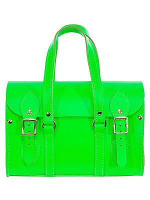 """<p>Make sure the weather's not the only thing that's bright with Spoiled Brat's neon green tote, best worn with denim cut-offs and a white tee.</p> <p>Neon green bag, £120, <a href=""""http://www.spoiledbrat.co.uk/womenswear-c1/bags-purses-c229#page1:t3504"""" target=""""_blank"""">Spoiled Brat</a></p>"""