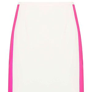 """<p>Just because Wimbledon's over doesn't mean you can't wear your tennis whites. We love Topshop's colour block white and fuchsia skirt, worn with a crisp white blouse and sandals.</p><p>Skirt, £34, <a href=""""http://www.topshop.com/en/tsuk/product/new-in-429/new-in-this-week-493/colour-block-pencil-skirt-2085547?bi=1&ps=200"""" target=""""_blank"""">Topshop</a></p>"""