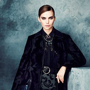 <p>M&S Collection coat, £110 <br />M&S Collection top, £35 <br />M&S Collection skirt, £29.50 <br />Bag, £29.50 Belt, £19.50 <br />Necklaces, £19.50 and £25</p>