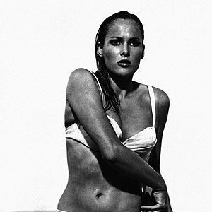 <p>Arguably the most famous bikini of all time. Ursula Andress' iconic entrance in a white two-piece in Dr No has been voted the sexiest bikini moment ever many a time, and we can see why. Tie-top, brass buckle belt, the avant-garde sports luxe piece is credited to have boosted sales of two-pieces everywhere.</p>