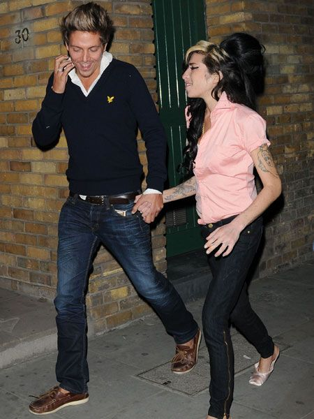 "A wayward <a target=""_blank"" href=""tags/amy-winehouse"">Amy Winehouse</a> was seen knocking back drinks at the Jazz After Dark club in Soho. The tiny singer was spotted with ex-boyfriend and singer Tyler James who she reportedly told hordes of excited fans that she was back dating again...  <br />"
