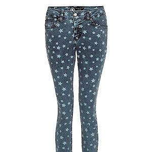 """<p>""""Inspired by Isabel Marant, I'm channeling my inner Parisian rock chick this summer in these star print skinnies. Team with a white tee and a colour-pop heel for cocktails in the sun.""""<br />Sairey Stemp, Fashion Editor<br /> <br />Blue star skinny jeans, £24.99, <a href=""""http://www.newlook.com/shop/womens/jeans/32in-blue-star-skinny-jeans-_287898840"""" target=""""_blank"""">New Look</a></p>"""