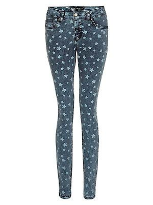 "<p>""Inspired by Isabel Marant, I'm channeling my inner Parisian rock chick this summer in these star print skinnies. Team with a white tee and a colour-pop heel for cocktails in the sun.""<br />Sairey Stemp, Fashion Editor<br /> <br />Blue star skinny jeans, £24.99, <a href=""http://www.newlook.com/shop/womens/jeans/32in-blue-star-skinny-jeans-_287898840"" target=""_blank"">New Look</a></p>"