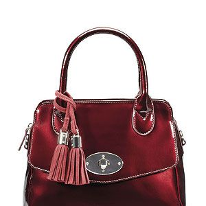 <p>There's a new it-bag in town. Clarks' oxblood patent Macy Emerson bag, in all its shiny glory, is a must-have for the Autumn.</p>