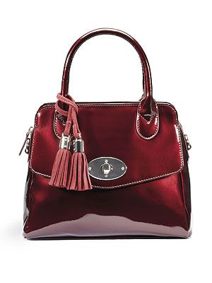 "<p>There's a new it-bag in town. Clarks' oxblood patent Macy Emerson bag, in all its shiny glory, is a must-have for the Autumn.</p> <p>Macy Emerson bag, £29.99, <a href=""http://www.clarks.co.uk/p/20356752"" target=""_blank"">Clarks</a></p>"