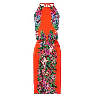 """<p>Tropical is this season's surprise hit, and a must-do print if you're looking to make a statement. These boldly coloured prints work best with neutral accessories: if you're taller, wear with tan leather, Grecian-style sandals, or choose minimalist strappy wedges to add height. </p><p>Tropical maxi dress, £55, <a href=""""http://www.oasis-stores.com/tropical-maxi-dress/dresses/oasis/fcp-product/3170116534"""" target=""""_blank"""">Oasis</a></p>"""