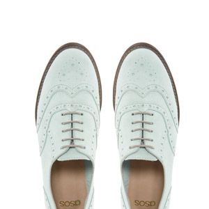 """<p>The brogue lightens up for summer in neutral hues and icy pastels and mesh and suede finishes. The city smart style choice, wear them equally well with your trouser suit as a denim pinafore dress.</p><p>Match suede brogues in mint, £45, <a href=""""http://www.asos.com/ASOS/ASOS-MATCH-Leather-Brogues/Prod/pgeproduct.aspx?iid=2794727&SearchQuery=brogue&sh=0&pge=0&pgesize=36&sort=-1&clr=Mint"""" target=""""_blank"""">ASOS</a></p>"""