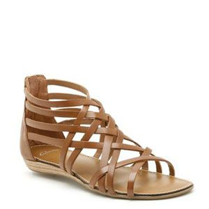 """<p>Pull on a pair of tan leather Grecian-style strappy sandals with your maxi dress or short kaftan for insoucient Boho style.</p><p>Oditi Lucky leather sandals, £34.99, <a href=""""http://www.clarks.co.uk/p/20350411"""" target=""""_blank"""">Clarks</a></p>"""