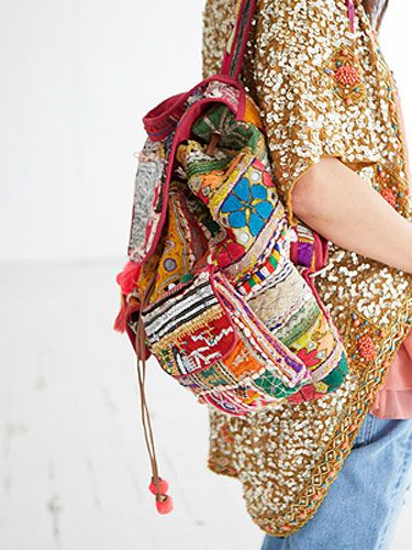 "<p>A riot of colour and texture combine in a heady mix of sequins and bold primary hues. Inspired by Indian markets and exotic embellishment this rucksack is a true feast for the senses.</p> <p><a href=""http://www.missselfridge.com/en/msuk/product/clothing-299047/inspired-by-2054440/inspired-byrucksack-2145357?bi=1&ps=40"" target=""_blank"">INSPIRED BY RUCKSACK</a>, £100 Miss Selfridge http://www.missselfridge.com/en/msuk/product/clothing-299047/inspired-by-2054440/inspired-byrucksack-2145357?bi=1&ps=40</p>"