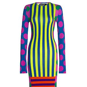 "<p>Dress, £120, <a href=""http://shop.houseofholland.co.uk/products/mr-quiffy-dress"" target=""_blank"">House of Holland</a></p>"