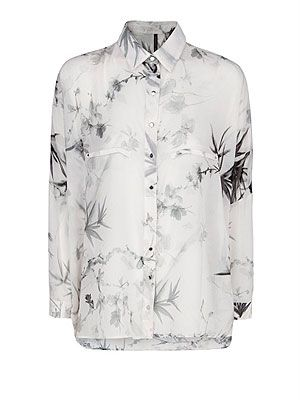"<p>If you're looking for a trans-seasonal shirt that will take you from summer to autumn in a flash, look no further than a feminine oriental chiffon blouse. Team with white shorts and wedges now and swap for tapered trousers and ankle boots later.</p> <p>Oriental print chiffon blouse, £35.99, <a href=""http://shop.mango.com/GB1/p0/mango/new/oriental-print-chiffon-blouse/?id=11043613_OW&n=1&s=nuevo&ie=0&m=&ts=1375705581323"" target=""_blank"">Mango</a></p>"