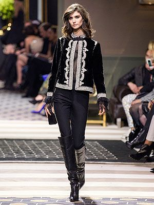 <p>Embroidered jacket, £69.99<br />Boots, £99.99</p>