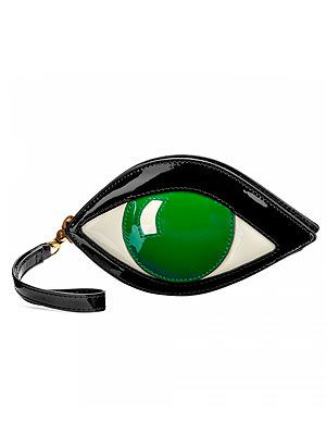 "<p>Emerald Eye coin purse, £75, <a href=""http://www.luluguinness.com/collections/eye/emerald-eye-coin-purse"" target=""_blank"">Lulu Guinness</a></p>"
