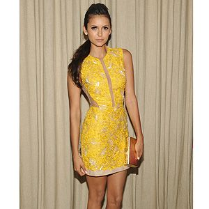 <p>Nina Dobrev attended Cosmopolitan's Summer Bash held at Palihouse in West Hollywood, California on Saturday.</p><p>Nina, who is the September cover star for Cosmo US, wore a canary yellow Julien Macdonald  mini dress with nude sheer panels, which she styled with Elie Saab accessories including a gold clutch and white strappy sandals.</p><p> </p>