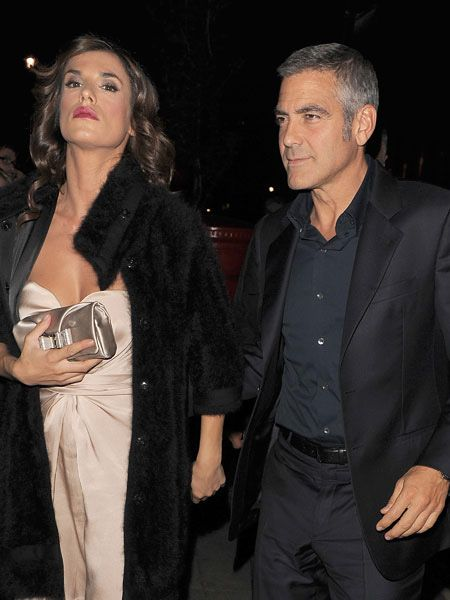 George Clooney was debuting his gorgeous new girlfriend Elisabetta Canalis in London as he promoted his new film, 'Fantastic Mr Fox'. The handsome couple popped to a private member's club for dinner and celebratory drinks and Elisabetta looked like the cat who got the cream - not that we blame her! <br />