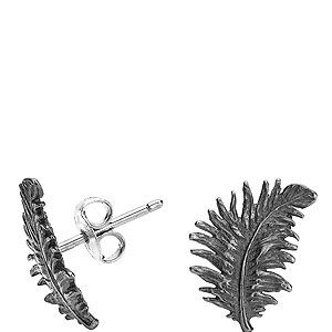 """<p>Dower and Hall's oxidised silver feathers were first created for Kasabian for their fourth album box set. Rock 'n' roll.</p><p>Small oxidized silver feather studs, £40, <a href=""""http://www.dowerandhall.com/product/small-oxidised-sterling-silver-feather-studs/1112/feather/41/1"""" target=""""_blank"""">Dower and Hall</a></p>"""