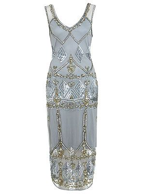"<p>A party date is the perfect excuse to go all out and the 20s trend is a great way to do it. A fitted Gatsby-inspired sheer and chiffon dress in muted tones with gold and silver beads aplenty is bound to catch his eye. Make sure you don't overdo it though and shun jewellery in favour of a bold, vampish lip.</p> <p>Aztec beaded midi dress, £89, <a href=""http://www.missselfridge.com/en/msuk/product/dress-shop-299048/view-all-299126/aztec-beaded-midi-dress-2088034?bi=1&ps=200"" target=""_blank"">Miss Selfridge</a></p>"