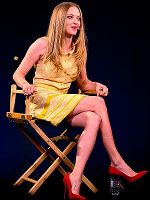 <p>Amanda Seyfried rocked a fair few cool outfits this week while promoting Lovelace in London, including this cute 60s-style yellow button-up dress on Tuesday. We love the added pop of colour with the red shoes and matching lipstick.</p>