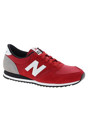 "<p>Make like the fashion editors and snap up a pair of new season New Balance in blood red. Wear with slinky leather skinnies and a mannish overcoat for full fashion points.</p> <p>New Balance trainers, £55, <a title=""http://www.asos.com/New-Balance/New-Balance-420-Red-Suede-Trainers/Prod/pgeproduct.aspx?iid=2988258&cid=16350&sh=0&pge=0&pgesize=36&sort=-1&clr=Red"" href=""http://www.asos.com/New-Balance/New-Balance-420-Red-Suede-Trainers/Prod/pgeproduct.aspx?iid=2988258&cid=16350&sh=0&pge=0&pgesize=36&sort=-1&clr=Red"" target=""_blank"">ASOS</a></p>"
