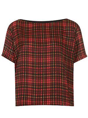 "<p>Tartan print T-shirt, £30, <a title=""http://www.topshop.com/webapp/wcs/stores/servlet/ProductDisplay?searchTerm=tartan&storeId=12556&productId=11363955&urlRequestType=Base&categoryId=&langId=-1&productIdentifier=product&catalogId=33057"" href=""http://www.topshop.com/webapp/wcs/stores/servlet/ProductDisplay?searchTerm=tartan&storeId=12556&productId=11363955&urlRequestType=Base&categoryId=&langId=-1&productIdentifier=product&catalogId=33057"" target=""_blank"">Topshop</a></p>"