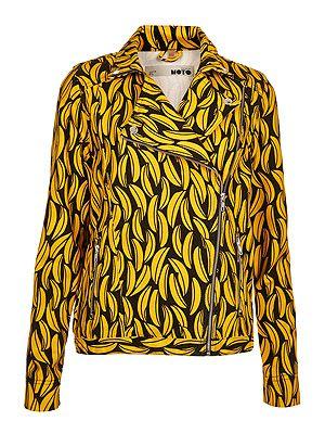 "<p>Banana print biker jacket, £60, <a href=""http://www.topshop.com/webapp/wcs/stores/servlet/ProductDisplay?langId=-1&storeId=12556&catalogId=33057&productId=10689248&categoryId=209750&parent_category_rn=208526"" target=""_blank"">Topshop</a></p>"