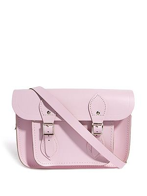 "<p>Pink Cambridge Satchel, £73.50, exclusive to <a href=""http://www.asos.com/Cambridge-Satchel-Company/Cambridge-Satchel-Company-Exclusive-To-ASOS-Baby-Pink-11-Satchel/Prod/pgeproduct.aspx?iid=2888587&SearchQuery=pink&Rf-700=1000&sh=0&pge=0&pgesize=204&sort=-1&clr=Babypink"" target=""_blank"">ASOS</a></p>"