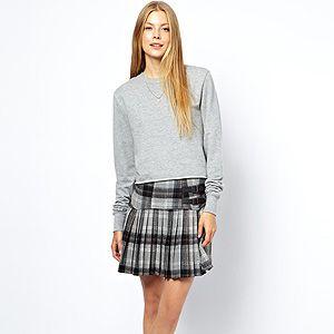 "<p>tartan mini skirt, £45, <a href=""http://www.asos.com/ASOS/ASOS-Mini-Skirt-in-Tartan/Prod/pgeproduct.aspx?iid=3049377&cid=2639&sh=0&pge=0&pgesize=36&sort=-1&clr=Grey"" target=""_blank"">ASOS</a></p>"