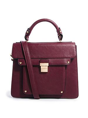 "<p>Dune satchel bag, £65, via <a href=""http://www.asos.com/Dune/Dune-Datchel-Satchel-Bag/Prod/pgeproduct.aspx?iid=3322972&cid=11022&sh=0&pge=0&pgesize=36&sort=-1&clr=Berry"" target=""_blank"">ASOS</a></p>"