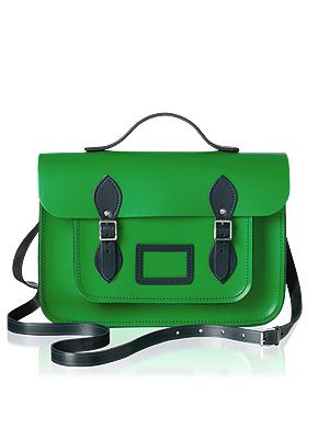 "<p>Make your classmates, er, we mean colleagues green with envy with a preppy colour pop <a href=""http://www.cosmopolitan.co.uk/fashion/shopping/designer-handbags-winter-trends-2013#fbIndex1"" target=""_blank"">bag</a> to cart around all your essentials.</p> <p>Green two-tone stachel, £135, <a href=""https://www.cambridgesatchel.com/buy/the-designer/"" target=""_blank"">CambridgeSatchel.com</a></p> <p><a href=""http://www.cosmopolitan.co.uk/fashion/shopping/designer-handbags-winter-trends-2013#fbIndex1"" target=""_blank"">TOTALLY WOW WINTER HANDBAGS</a></p> <p><a href=""http://www.cosmopolitan.co.uk/fashion/shopping/new-in-store-27-august#fbIndex1"" target=""_blank"">SHOP THIS WEEK'S BEST NEW BUYS</a></p> <p><a href=""http://www.cosmopolitan.co.uk/fashion/news/"" target=""_blank"">SEE THE LATEST FASHION NEWS</a></p>"
