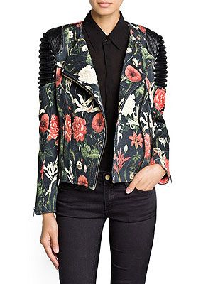 "<p>This cotton printed biker jacket works the 'pretty tough' 90s grunge trend a treat.</p> <p>Floral biker jacket, £99, <a href=""http://shop.mango.com/GB/p0/mango/new/quilted-panel-floral-biker-jacket/?id=11085607_02&n=1&s=nuevo&ie=0&m=&ts=1378139223611"" target=""_blank"">Mango.com</a></p>"